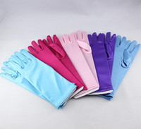 Wholesale 200pairs Elsa Anna Princess Gloves Children Girl Kids Long Glove Evening Dress Cosplay Costume Accessories Christmas Gift
