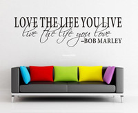 art bob marley - Love The Life You Live Bob Marley Decal Stickers Wall Decor Quote