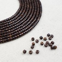 Wholesale High quality x4mm strand natural coconut loose beads for DIY simple chic jewelry making Supplies