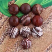 wholesale semi precious beads - Charm Red Stone Rainbow Stone etc Natural Stone Hemispherical Cabochon Semi precious Beads DIY Jewelry Making mm