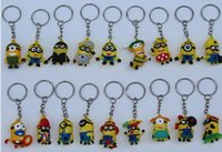 Promotion PVC Digital Voice Recording Keychains Lot New 3.5cm Doll 3D Key Chain Minions Keychain Key Ring The Cartoon Movie Despicable Me Action Figure Boys Girls Christmas Promotion Gift