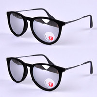 Wholesale Polarized r Woman Brand Mirror Sunglasses Erika Velvet Black and red Mirror Glasses
