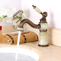 antique marble sinks - Novelty Antique bronze Marble body Bathroom wash Basin Faucet Sink Mixer Taps water mixer torneiras vintage E