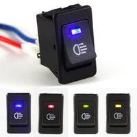 Wholesale 4x LED Dashboard Switch V A For Car Fog Lights Bar Rocker Switch