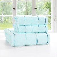 Wholesale 2015 Set of towels cotton stripe colors towels cmx73cm bath towel cmx140cm suit Children and Adults Strong water absorption