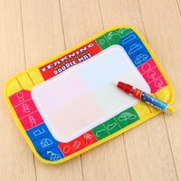 Wholesale XC8866 X19cm color Mini Water Drawing Mat Aquadoodle Mat Magic Pen board baby play Paint learning Notebook