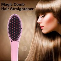 Wholesale 40pcs CCA2697 Creative LCD Hair Straightener Straight Hair Styling Tool Home Electric AUTO Straight Hair Comb Brush Iron Straight Hair Comb