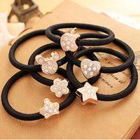 apple hair bow - Crystal Flower Heart Apple Crown Bows amp Stars Shaped Elastic Hair Bands for Girl Headwear Hair Accessories for Women