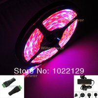 Wholesale Plant Growing Hydroponic LED Strip Light R D Waterproof V A Power Female DC connector