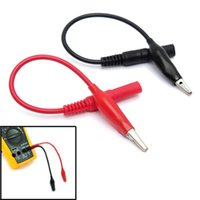 Cheap MultiMeter Test Lead & Alligator Crocodile Clip Electrical Clamp For Fluke Meter Testing Probe Red+Black