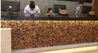 Wholesale Home restaurant wooden mosaic tiles solid sea wood interior design TV background