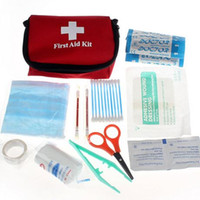 Wholesale Stylish Travel Camping Medical Emergency First Aid Kit Survival Bag Treatment Pack Set Home Wilderness Survival