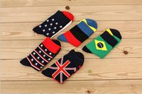 athletic sock manufacturers - Pure cotton socks man South Korea fashion cotton stockings Flag tube tide of leisure male socks manufacturer