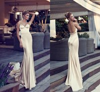 hen party - Nurit Hen Cheap Mermaid Long Prom Dresses Spaghetti Backless Court Train Bead Formal Party Evening Dress Celebrity Gowns BG50187
