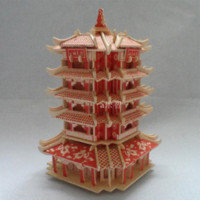 ancient chinese architecture - miniature scale models wooden d puzzle diy simulation model buildings famous promotion ancient chinese architecture toy tower