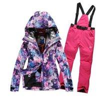 Wholesale High Quality Fashion Women Ski Suit Sets Windproof Waterproof Winter Ski Jacket Pants Warm Breathable Wearproof