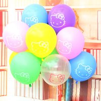 hello kitty balloons - 100pcs inch hello kitty latex balloons globos party decoration hello kitty balloon personalized latex balloon transparent balloon
