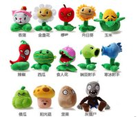 Wholesale quot Plants VS Zombies Soft Plush Toy With Sucker A full set