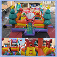 Wholesale Commercial Quality HOT m by m Inflatable Santas Bounce House Christmas Inflatable Bouncer Santas Jumper