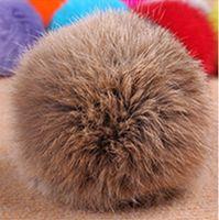 rabbit fur hat - natural color Rabbit Fur pompom CM for Beanies hats cap keychain bags natural fur balls real natural fur pom poms on sale