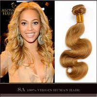 russian hair weave - Honey Blonde Brazilian Hair Weave Bundles Body Wave Grade A Virgin Peruvian Malaysian Indian Eurasian Russian Remy Human Hair Extensions