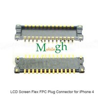 apple logicboard - 10pcs LCD Display FPC connector on logicboard on mortherboard for iphone s LCD connector