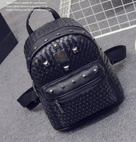 Wholesale Hot New Backpacks Gilr Fashion Bags PU Leather Backpack Sport Outdoor Bag Weaving Backpack Bags High Quality Bag