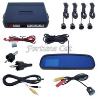 Wholesale In Stock Car Parking Sensor System With Inch TFT Display Rearview Mirror And Sensors Hot Selling Fast Shipping Hours