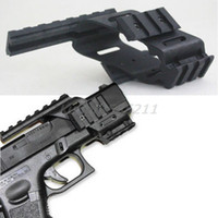 Wholesale Install red and green dot laser sight tactical flashlight Quad quot penenun Picatinny for glock cp99