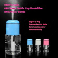 dc caps - USB Portable ABS Water Bottle Cap Humidifier DC V Office Air Diffuser Aroma Mist Maker with Retail Packaging Creative gift