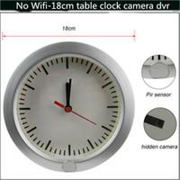 Wholesale PIR Sensor Spy Table Clock Camera DVR CM No Wifi