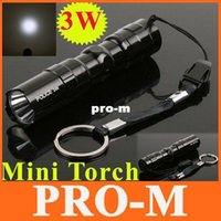 Wholesale 3W Mini Aluminum LED Flashlight Torch Waterproof Camping Sporting Portable Led Torch