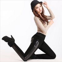 Cheap patchwork leggings Best leather leggings