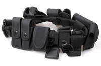 Wholesale High Quality Utility Guard Utility Kit Tactical Belt with Pouch For Police Guard Security System Unisex Black