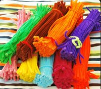 Wholesale per mm x mm Color Pipe Cleaner Chenille Stems Cleaner DIY Material