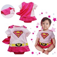 Wholesale Baby One Piece baby Rompers boys girls Superman Romper pink Super Man Rompers baby Batman Clothes