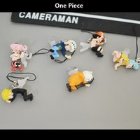 best baby animations - Animation Garage Kid One Piece Baby Toys JJIN Action Figure PVC Dolls Phone Pendant Ace Law Sanji Zoro Perona Model Best Gifts