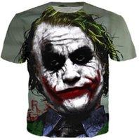 Cheap Fashion 3D Print Joker T Shirt Cool Graphic Design Movie Batman 2 The Dark Knight Rises Tshirts Unisex Funny Print T-shirts