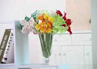 amaryllis bouquet - Multicolor Upscale Feel Is Mini Callas Simulation Flowers Wedding Decoration Amaryllis Pu Fake False Brides Bouquet DIY Home Decoration Artw