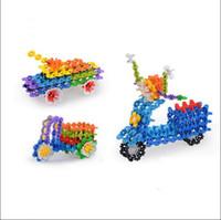 Wholesale New DIY Snowflake Puzzle Building Blocks Baby Kids Educational Intelligence Toys Gift