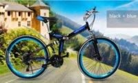 mountain bikes - Fast shipping Carbon steel full suspension folding disc brake men women mountain bike bicycle Speed change Inch bikes