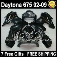 triumph - 7gifts For TRIUMPH Daytona Daytona675 G17 ALL Black Glossy black Fairing