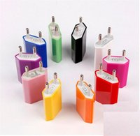 Wholesale Colorful EU US Plug USB Wall Charger AC Power Adapter Home Charger for iphone Samsung Galaxy S6