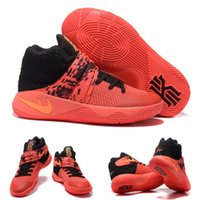 atomic solids - With shoes Box Kyrie Irving II Inferno Bright Crimson Atomic Orange Black Tie Dye Men Hot Sale Shoes