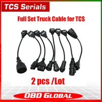 Cheap High quality 2pcs lots 8pcs TCS PRO trucks cable for Delphi DS150E CPD+ scanner