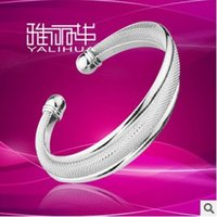 Cheap Fashion New Brand Design Wire mesh 925 silver plated bracelets For Women Jewelry