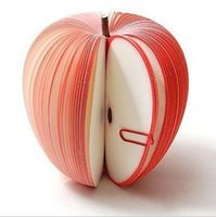 apple shaped notepad - PC Fruit Scrapbooking Note Memo Pads Portable Scratch Paper Notepads Post Sticky Apple Pear Shape