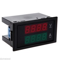 Wholesale AC Dual Digital LCD Panel Ammeter Voltmeter A V Tester with Rear Cover