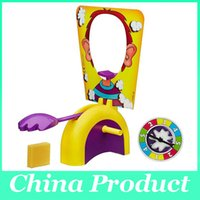 Wholesale Best Korea Running Man Pie Face Game Pie Face Cream On Her Face Hit The Send Machine Paternity Toy Rocket Catapult Game