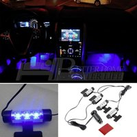 Wholesale 4x3 LED Car Charge V Glow Interior Decorative in1 Atmosphere Light Lamp YKS